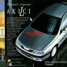 RENAULT - 1995 LAGUNA FLOWING CLEVER DESIGN TURKISH PRINT AD