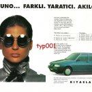 FIAT - 1993 UNO DIFFERENT CREATIVE CLEVER RATIONAL TURKISH PRINT AD