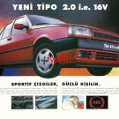 FIAT - 1996 TIPO SPORTIVE LINES STRONG PERSONALITY TURKISH PRINT AD