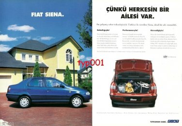 FIAT - 1999 SIENA BECAUSE EVERYBODY HAS A FAMILY TURKISH PRINT AD