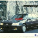 PEUGEOT - 1993 605 FORM FILLED WITH INTELLIGENCE BECOMES BEAUTY TURKISH PRINT AD