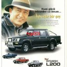 MITSUBISHI - 1999 L200  FEELING THE POWER TURKISH SINGER EROL EVGIN PRINT AD