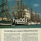 KLM - 1980 - THE TALL SHIPS ARE COMING IN HOLLAND'S ROYAL YEAR PRINT AD