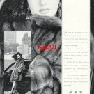 BIRGER CHRISTENSEN - 1989 - LADY IN FUR COAT PRINT AD
