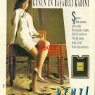 PENTI - 1991 TURKISH PANTYHOSE STAR MOST SUCCESSFUL WOMAN OF THE DAY PRINT AD
