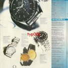 OMEGA - 1992 - SPEEDMASTER CONSTELLATION DE VILLE SEA MASTER TURKISH PRINT AD