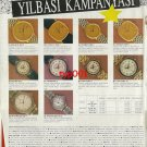 OMEGA BALMAIN ZENITH - 1991 - NEW YEAR CAMPAIGN TURKISH PRINT AD - 1