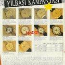OMEGA BALMAIN ZENITH - 1991 - NEW YEAR CAMPAIGN TURKISH PRINT AD - 2