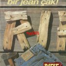 RIFLE JEANS - 1992 - NAIL YOURSELF A TIGHT JEAN TURKISH PRINT AD