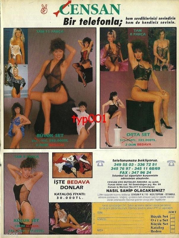 CENSAN - 1993 - SUPER SEXY LINGERIE HOSIERY PANTIES BRA PRINT AD