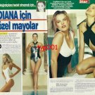 CATHERINE WALKER - 1991- SWIMSUITS DESIGNED FOR LADY DIANA TURKISH PRINT ARTICLE