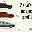 PEUGEOT - 1992 - 205 405 605 THREE STRONG PROFILES OF ELEGANCE TURKISH PRINT AD