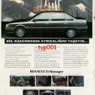 RENAULT - 1992 LEAVE THE MOVE TO MANAGER CHESS THEME TURKISH PRINT AD