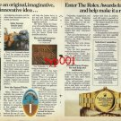 ROLEX - 1982 - ROLEX AWARDS FOR ENTERPRISE IMAGINATIVE INOVATIVE IDEAS PRINT AD
