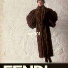 FENDI - 1986 - LADY IN RUSSIAN VISONE FUR COAT PRINT AD