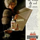 MOSCOW DUTY FREE - 1992 - LADY IN FUR HAT & COAT SERVED STOLINCHNAYA PRINT AD