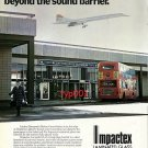 ALCAN GLASS - 1979 - BRITISH AIRWAYS CONCORDE OVER HATTON CROSS STATION PRINT AD