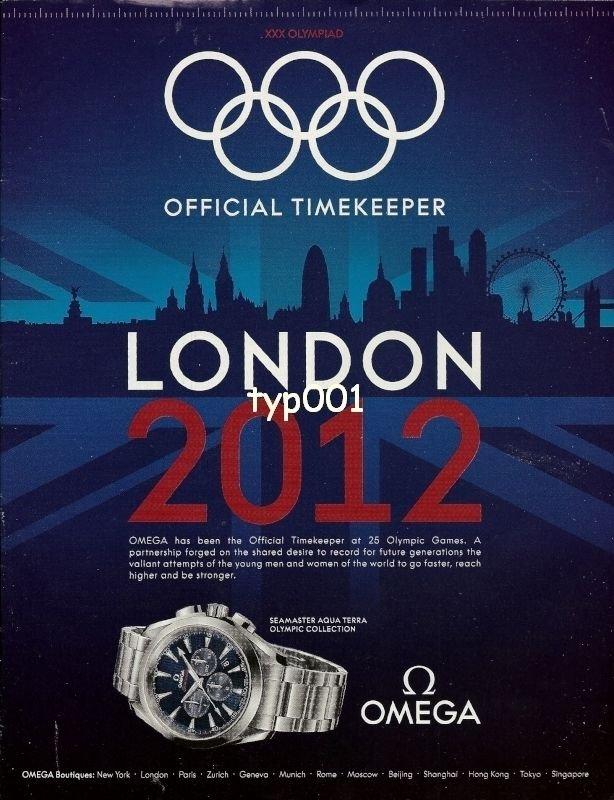 OMEGA - 2012 - OFFICIAL TIMEKEEPER LONDON 2012 XXX. OLYMPIAD SEAMASTER PRINT AD
