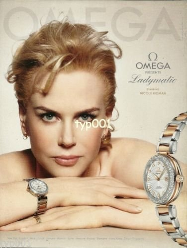 OMEGA - 2013 - OMEGA PRESENTS LADYMATIC STARRING NICOLE KIDMAN PRINT AD