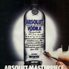 ABSOLUT - 1990 - ABSOLUT MASTERPIECE PRINT AD