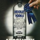 ABSOLUT - 1990 - ABSOLUTLY PRINT AD