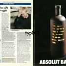 ABSOLUT - 1999 - ABSOLUT BALKA - MIROSLAV BALKA LIFE AND DEATH STRUGGLE PRINT AD