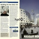 ABSOLUT - 1999 - ABSOLUT HOLLEIN - HANS HOLLEIN BUILDING ART INTO LIFE  PRINT AD