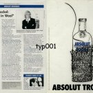 ABSOLUT - 1999 - ABSOLUT TROCKEL - ROSEMARIE TROCKEL STRIPTEASE IN WOOL PRINT AD