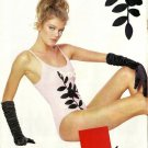 KOM - 1992 - '92 FASHION IN SWIMWEAR BLACK ROSE DESIGN PRINT AD
