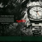 ROLEX - 2011 - LIVE FOR GREATNESS - EXPLORER II PRINT AD