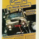 CAMEL TROPHY - 1986 - APPLICATION TO '87 MADAGASCAR CAMEL TROPHY PRINT AD