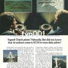 KLM - 1980 - SUPERB DUTCH PILOTS TRAINING PROGRAM PRINT AD