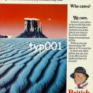 BRITISH AIRWAYS - 1980 - FROM MIDDLE EAST TO THE MIDDLE OF NOWHERE PRINT AD