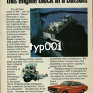 DATSUN NISSAN - 1980 - YOU'LL NEVER FIND THIS ENGINE BLOCK IN A DATSUN PRINT AD