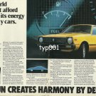DATSUN NISSAN - 1980 - FOR A WORLD THAT CAN'T AFFORD TO WASTE ITS ENERGY ON THIRSTY CARS PRINT AD