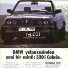 BMW - 1988 - A NEW BREEZE OF BMW FAN 320i CABRIO TURKISH PRINT AD