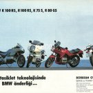 BMW - 1988 - LEADERSHIP IN MOTORCYCLE TECHNOLOGY TURKISH PRINT AD