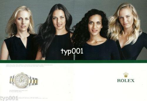 ROLEX - 2013 - TENNIS STARS PHILLIPS, IVANOVIC, SHANKAR, WOZNIACKI PRINT AD