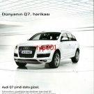 AUDI - 2010 - Q7. WONDER OF THE WORLD TURKISH PRINT AD