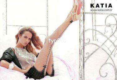 KATIA - 2014 - SEXY GARTER DESIGN PANYTHOSE HOSIERY TURKISH PRINT AD