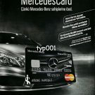 ISBANK - 2013 -  MERCEDES CREDIT CARD TURKISH PRINT AD