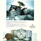 ROLEX - 1986 - CONCURS HIPPIQUES DRESSAGE EQUESTERIAN TURKISH PRINT AD