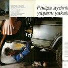 PHILIPS - 1991 - CATCH LIFE IN THE LIGHT OF PHILIPS UPSKIRT TURKISH PRINT AD