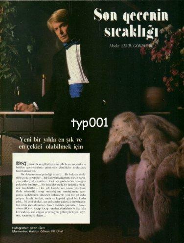 PAK K�RK FURS - VAKKO - BEYMEN - 1987 - FURS & SUITS SIX PAGE TURKISH ADVERTORIAL