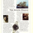 ROLEX - 1986 - THE LEGEND OF TIM SEVERIN TURKISH PRINT AD