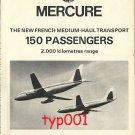 DASSAULT - 1973 - MERCURE JET & AEROSPATIALE - 1973 GAZELLE HELICOPTER PRINT ADS