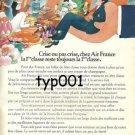 AIR FRANCE - 1974 FRENCH PRINT AD - CRISIS OR NO CRISIS FIRST CLASS - BLACHON