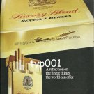 BENSON & HEDGES - 1975 - JET AIRCRAFT REFLECTION OF THE FINEST THINGS  PRINT AD