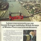 BRITISH AIRWAYS - 1974 - BE SURPRISED PRINT AD - FRENCH & WINSTON 1974 PRINT AD