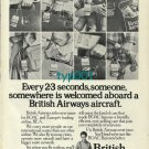 BOAC - BEA - BRITISH AIRWAYS - 1974 -  EVERY 23 SECONDS SOMEONE PRINT AD